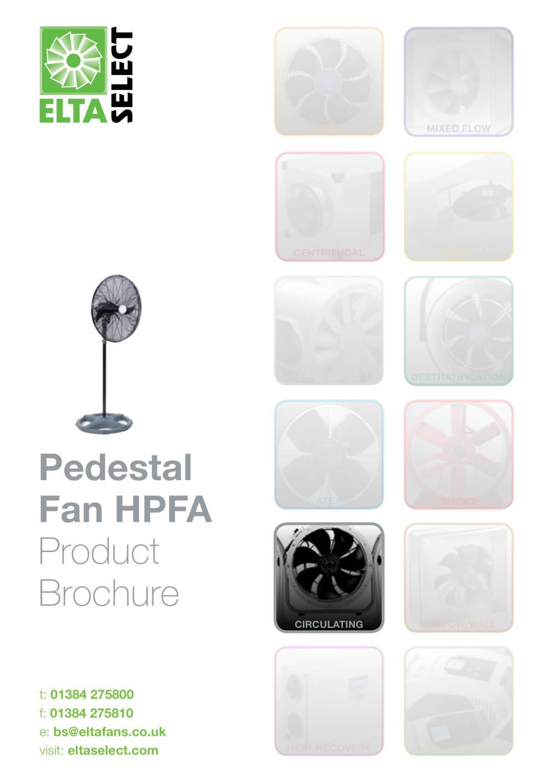 Pedestal Fan Hpfa Elta Fans Pdf Catalogues Documentation Wiring Diagram 1 5 Pages