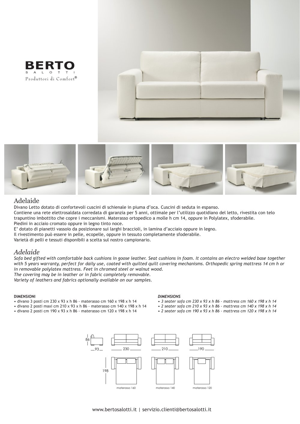 Adelaide sofa bed - BERTO SALOTTI - PDF Catalogues | Documentation ...