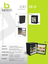 Bartech 55 Lt automatic minibar specifications