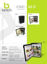 Bartech 65 Lt automatic minibar specifications