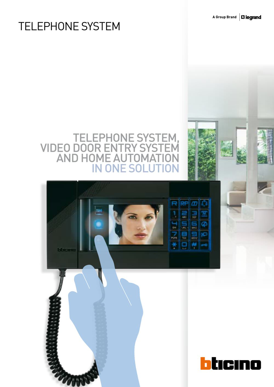 Telephone System Technical Guide Bticino Pdf Catalogs