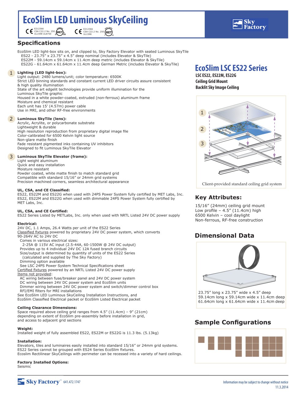 Ecoslimled Luminous Skyceiling Sky Factory Pdf Catalogues Led Light System Circuit 1 Pages