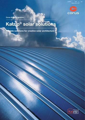 Kalzip Solar solutions