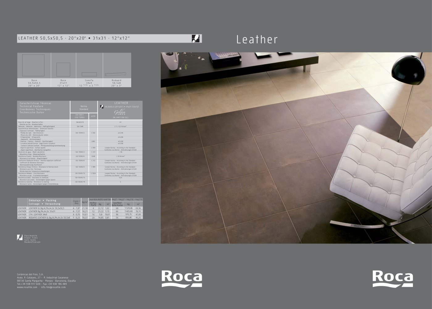 Leather roca tile pdf catalogues documentation brochures leather 1 2 pages dailygadgetfo Images