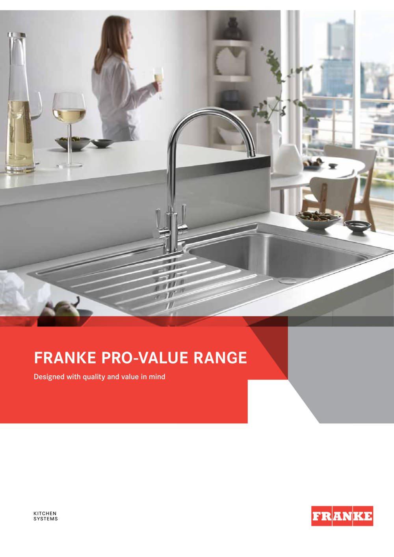Pro-Value Range - FRANKE - PDF Catalogues | Documentation | Brochures