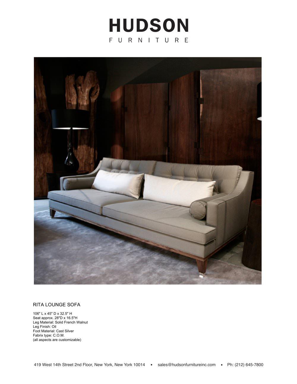 UPHOLSTERED:RITA LOUNGE SOFA - Hudson Furniture - PDF Catalogues