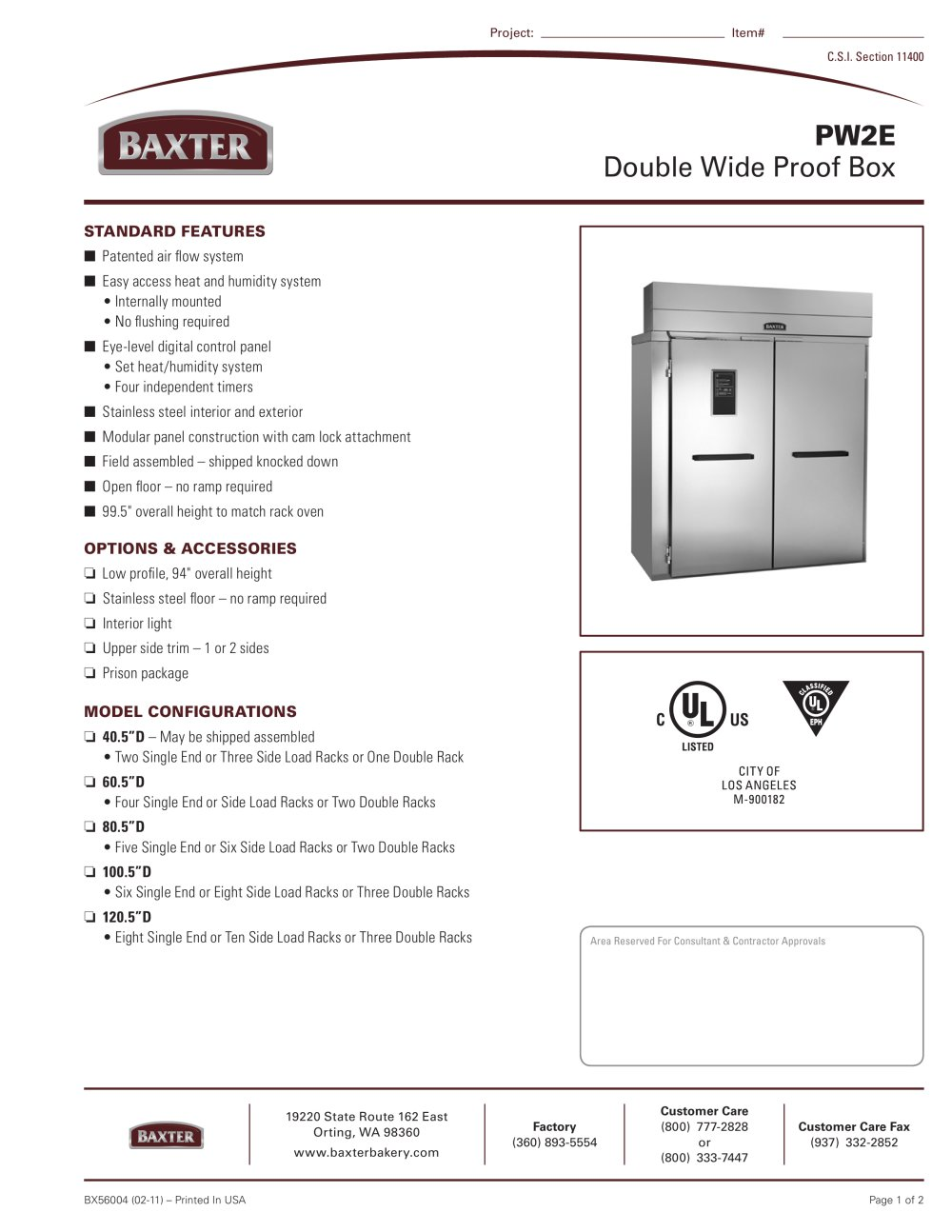PW2E - Double Wide Proof Box - BAXTER - PDF Catalogues ... Hobart Ov G Wiring Diagram on hobart dishwasher schematics, hobart c44a wiring schematic, hobart parts, hobart dishwasher electrical wiring,