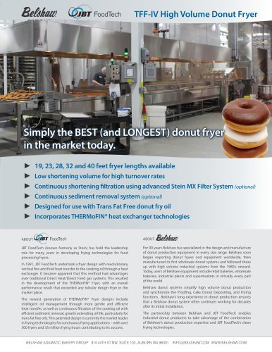 Belshaw-JBT FoodTech High Volume Industrial Donut System