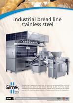Industrial bread line stainless steel