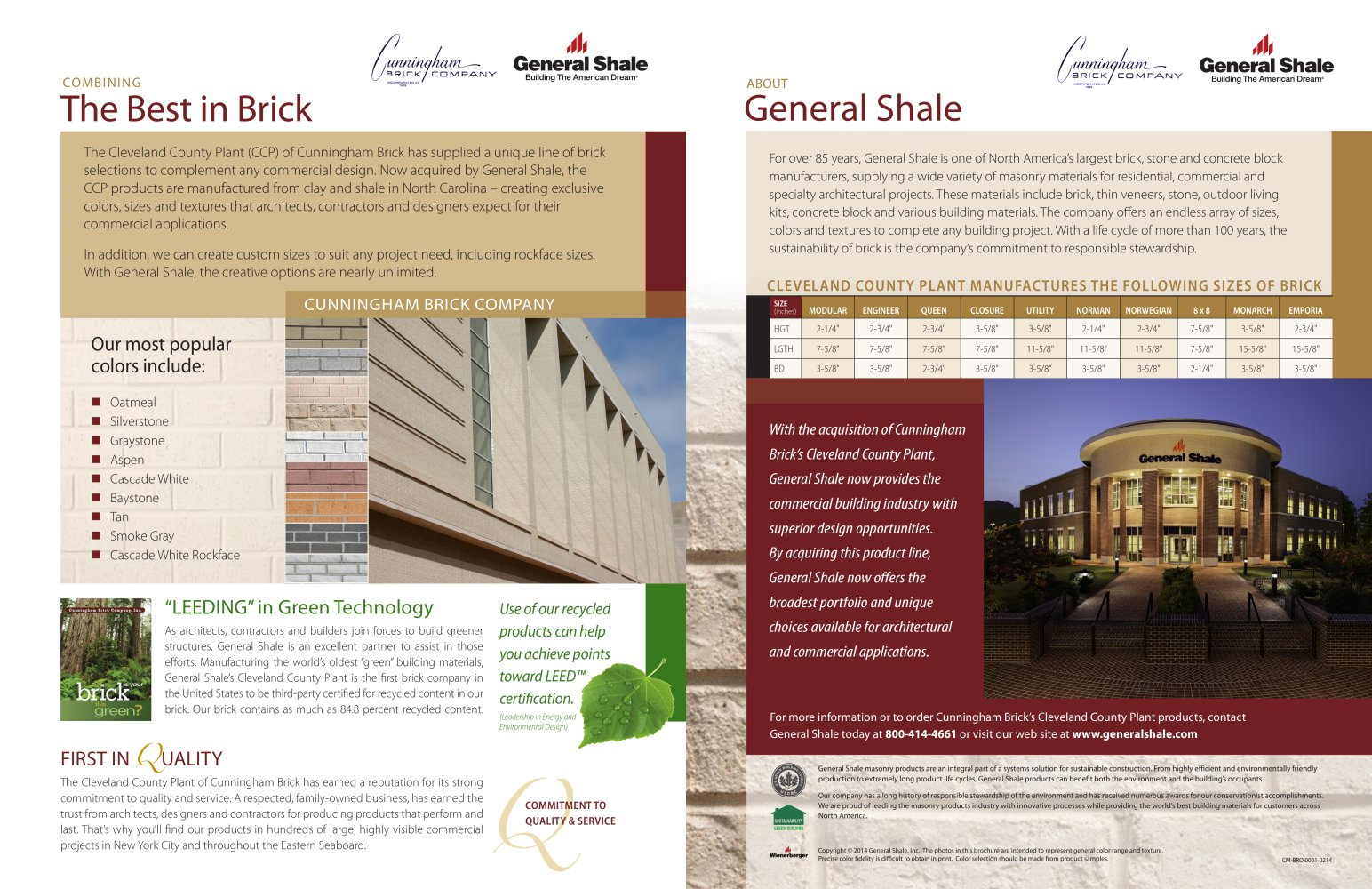 cleveland county brick general shale pdf catalogues
