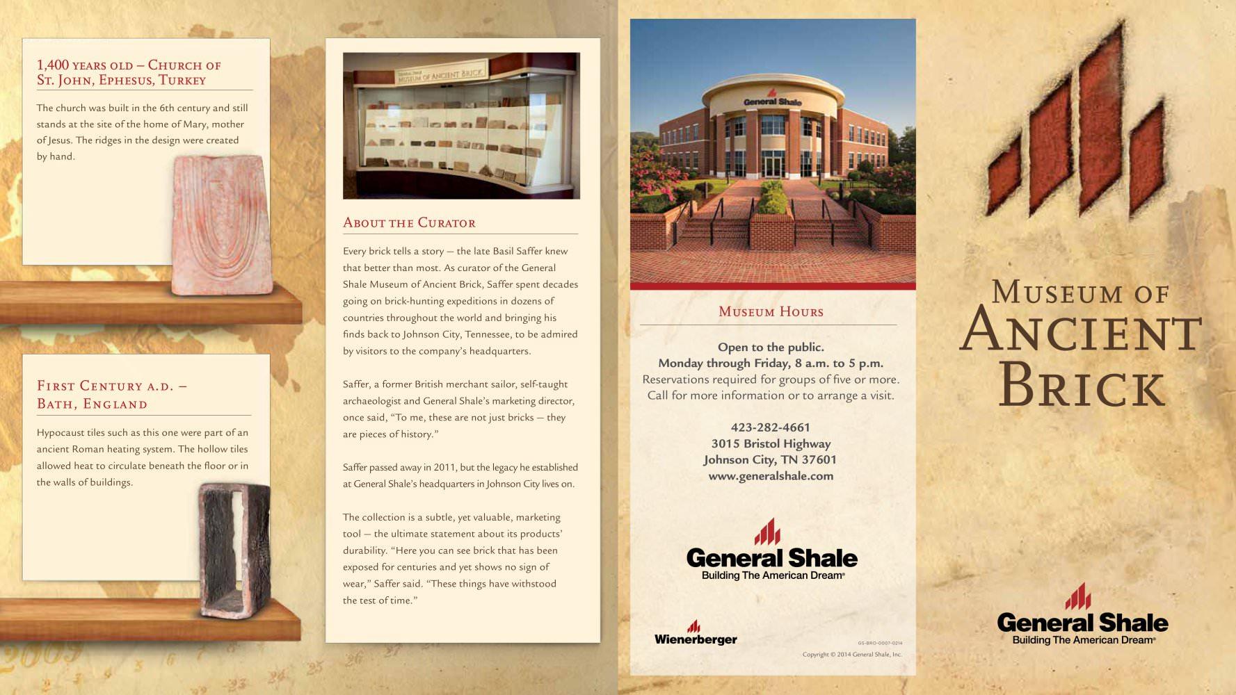 Museum of Ancient Brick Brochure - General Shale - PDF Catalogues ...