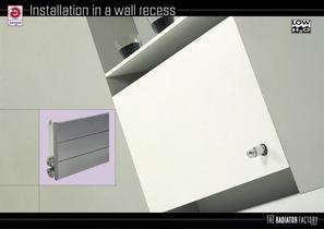 Installation in a wall recess