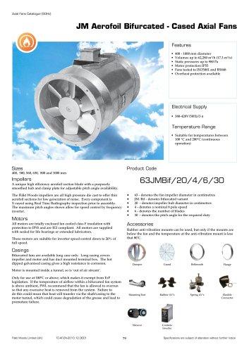 JM Aerofoil Bifurcated - Cased Axial Fans