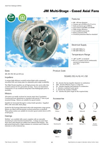 JM Multi-Stage - Cased Axial Fans
