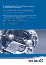 Flyer Customized drive solutions with external rotor motors