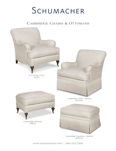 Cambridge chairs & ottomans