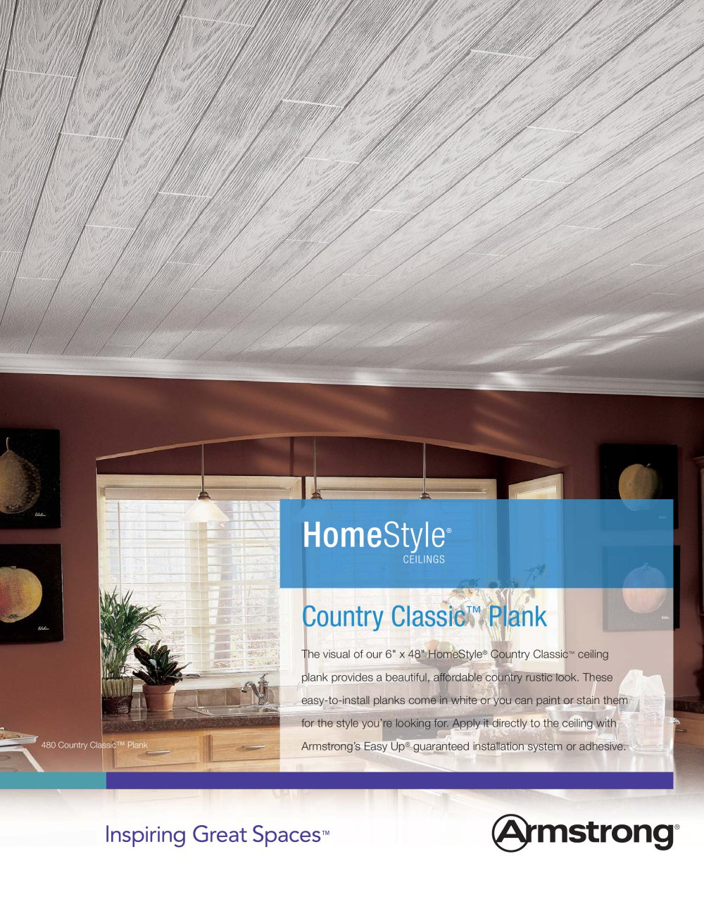 homestyle country classic ceiling planks - armstrong ceilings
