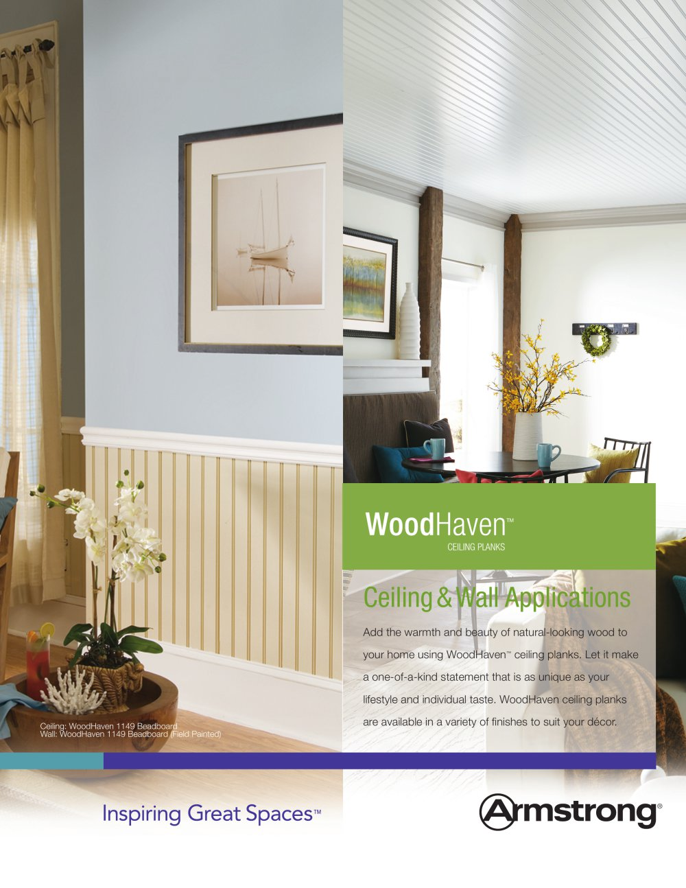 WoodHaven Ceiling Planks   1 / 3 Pages