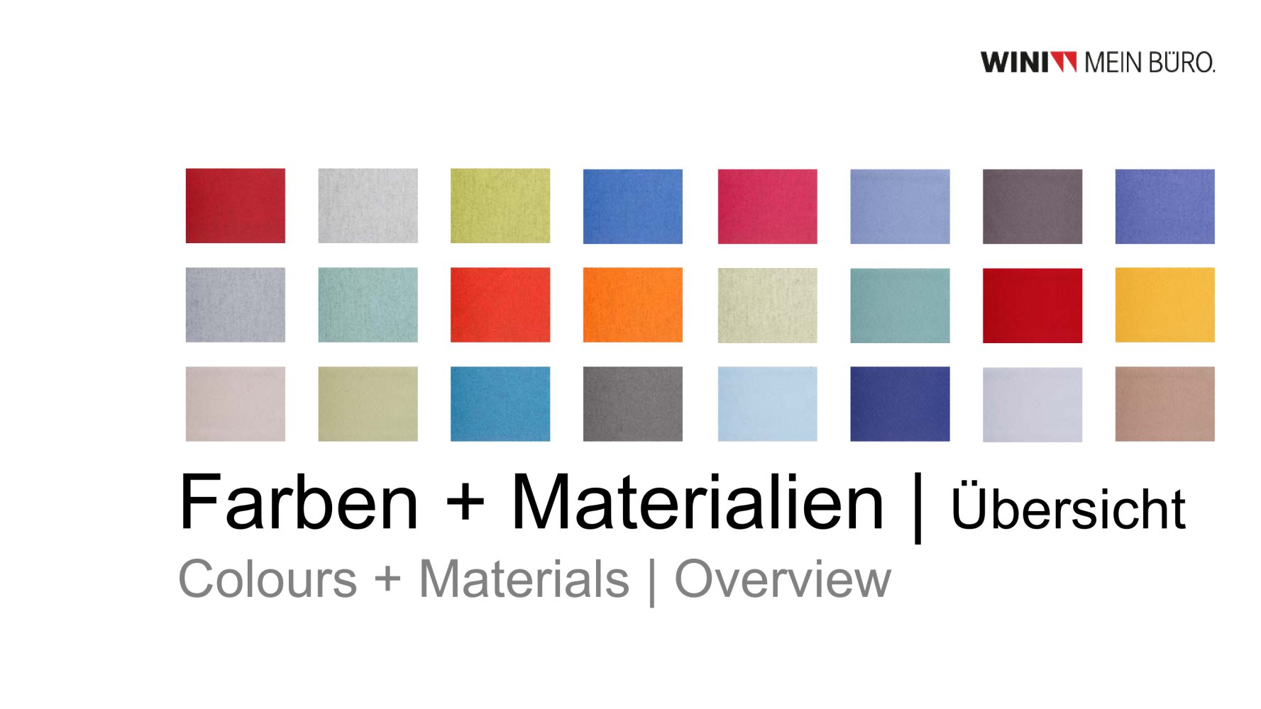 WINI Farben + Materialien - WINI Büromöbel Georg Schmidt GmbH & Co ...