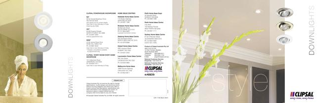 Clipsal Downlights overview