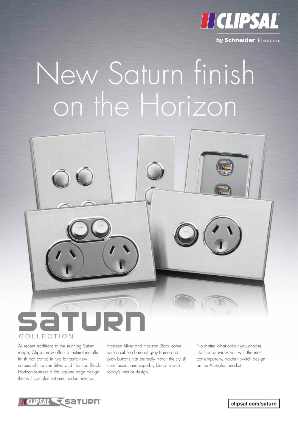 New Saturn finish on the Hori Clipsal PDF Catalogues
