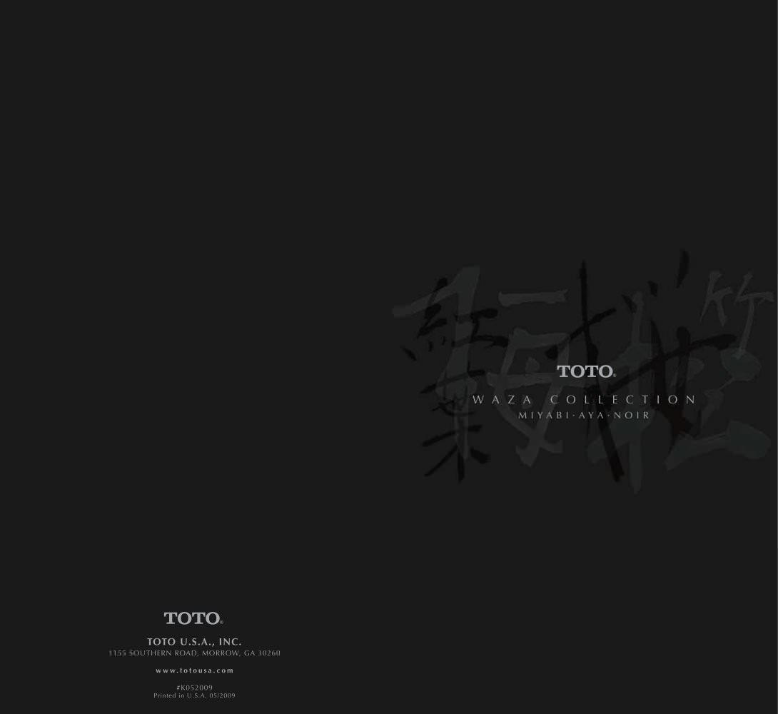 WAZA BROCHURE - Toto - PDF Catalogues | Documentation | Brochures