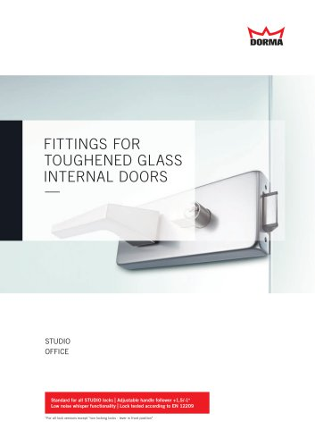 FITTINGS FOR TOUGHENED GLASS INTERNAL DOORS