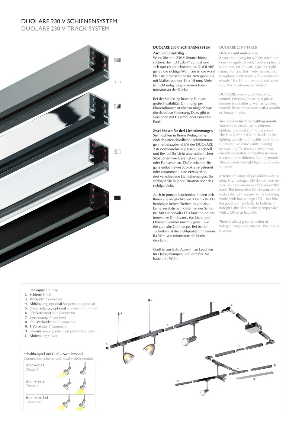 Duolare 230 V Track System 2 Circuits Bruck Pdf Catalogs Led Light Circuit 1 8 Pages