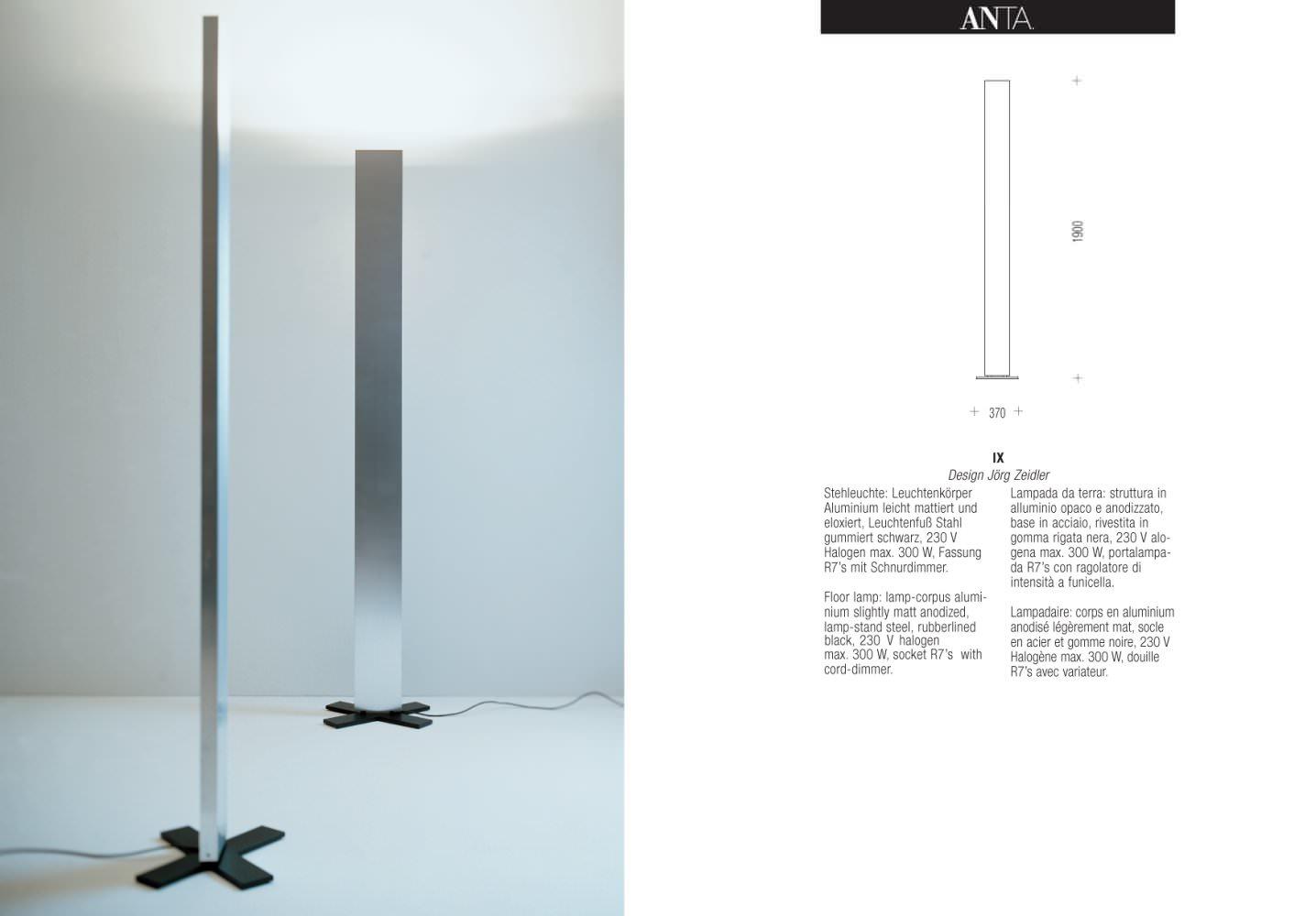 Moderne Lampen 9 : Ix anta leuchten pdf catalogs documentation brochures