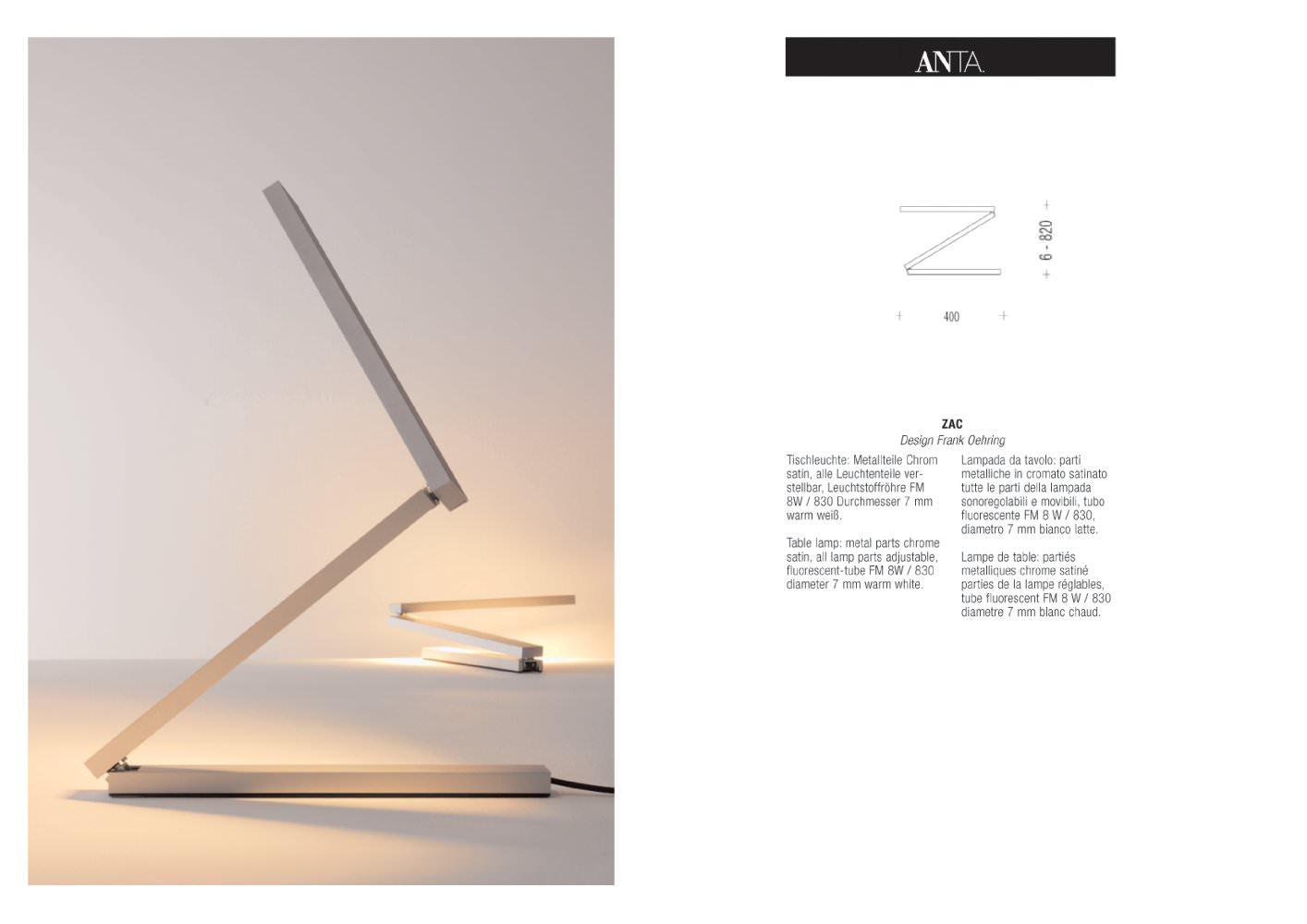 Großartig Anta Leuchten Das Beste Von Zac - 1 / 1 Pages