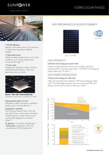 E20-327 PANEL - Sunpower - PDF Catalogs   Documentation