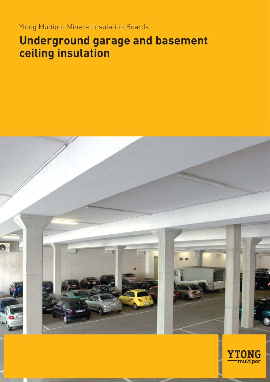 underground garage and basement ceiling insulation - xella - ytong