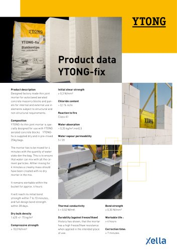 YTONG-fix (Product data YTONG -fix)