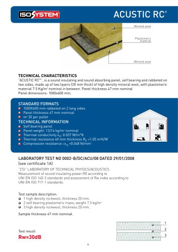 acustic rc - ISOSYSTEM - PDF Catalogs | Documentation | Brochures