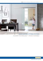 GEZE SLIDING FITTING SYSTEMS : FILIGREE TECHNOLOGY - ...