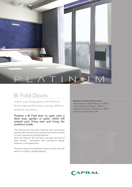Platinum - Folding door - 1 / 2 Pages  sc 1 st  Catalogues Archiexpo & Platinum - Folding door - Capral Aluminium - PDF Catalogues ...