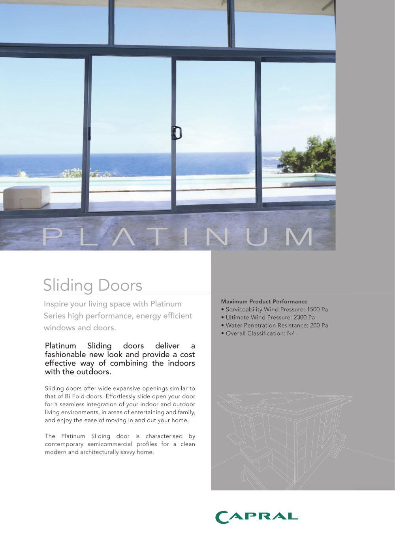 Platinum - Sliding door - Capral Aluminium - PDF Catalogues ...