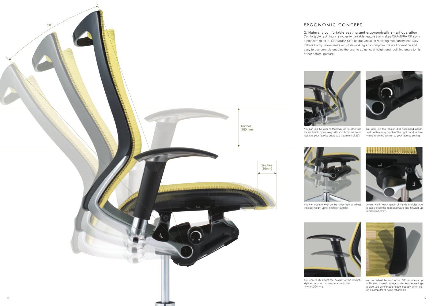 Okamura, la silla japonesa para el trabajo en la oficina - Decóralos