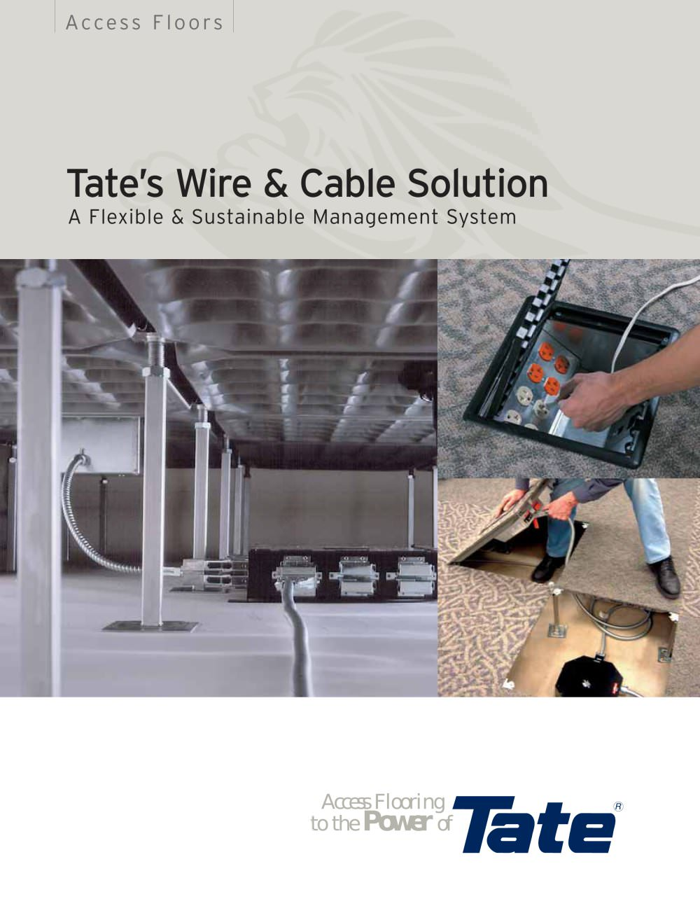 Superb Tate?s Wire U0026 Cable Solution Access Flooring   1 / 12 Pages