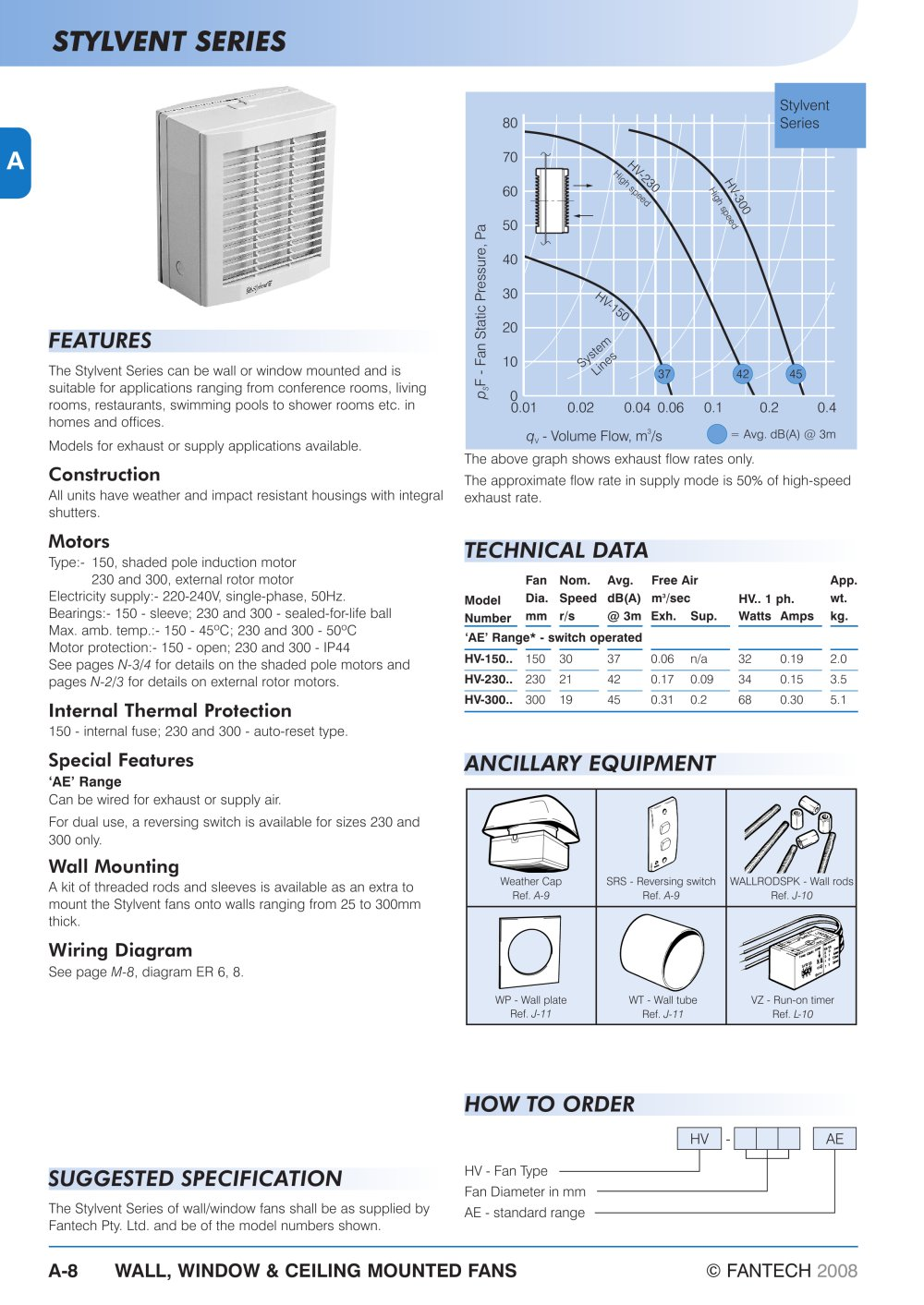 Stylvent Series Fantech PDF Catalogues Documentation Brochures - Fantech wiring diagram