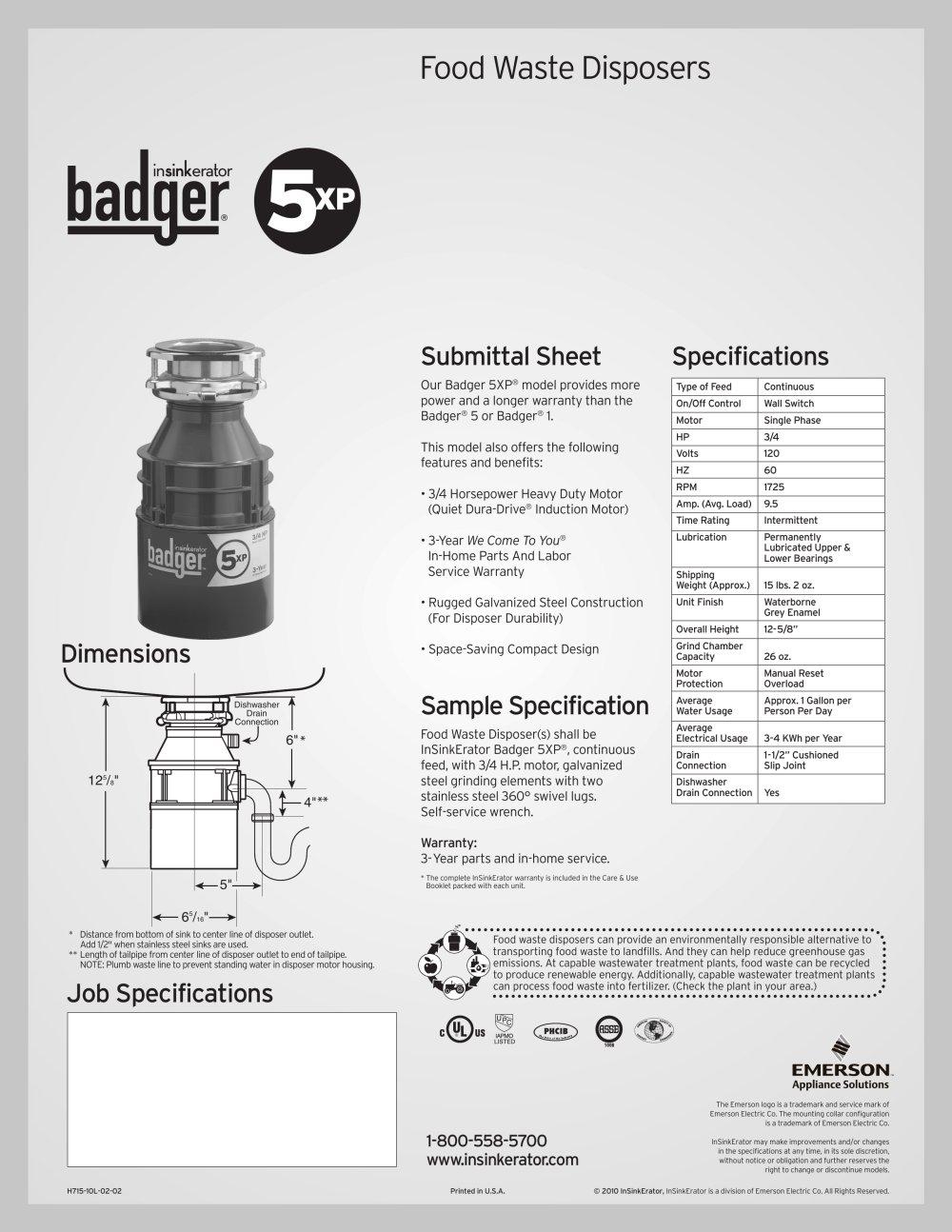 badger 5xp 1 1 pages - Badger 5 Disposal