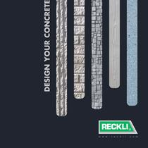 RECKLI Image brochure - Design your concrete