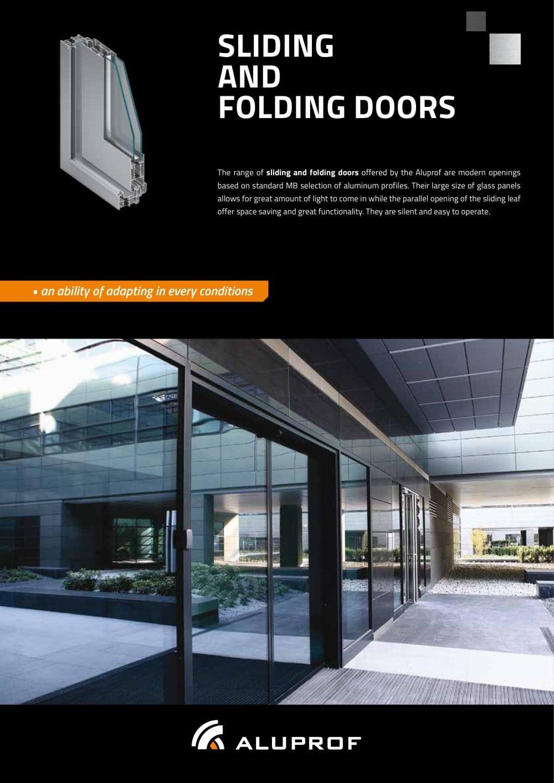 Sliding and folding doors - Aluprof S.A - PDF Catalogues ...