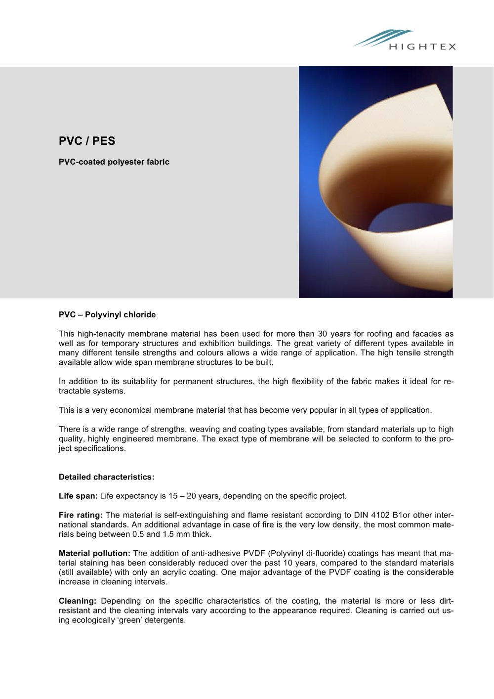 PVC/PES - Hightex - PDF Catalogues | Documentation | Brochures
