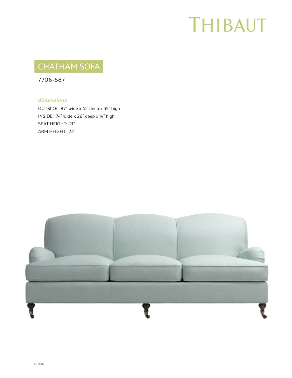 Bon CHATHAM SOFA   1 / 2 Pages