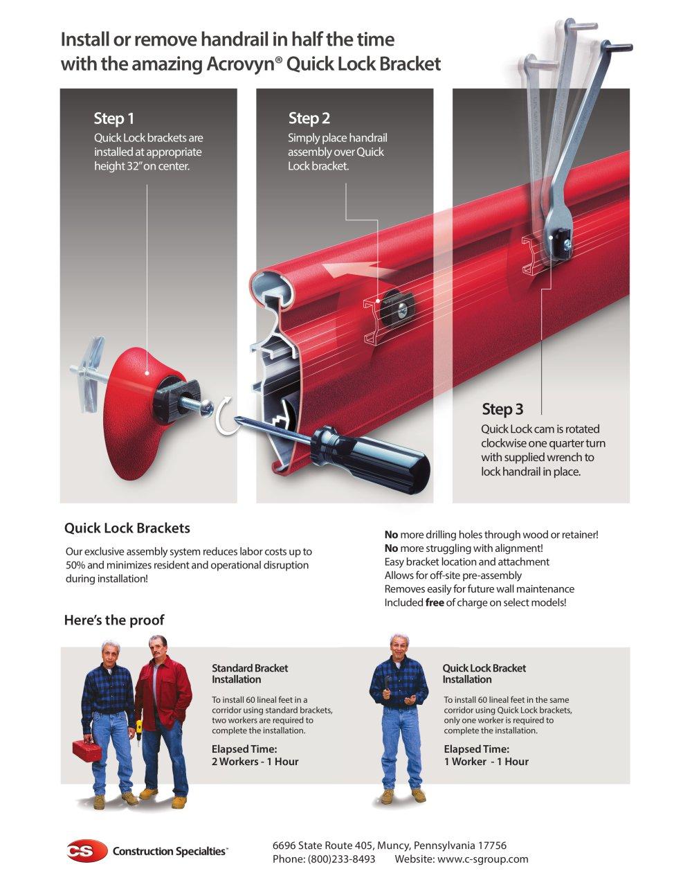 quick lock flyer cs construction specialties pdf catalogues