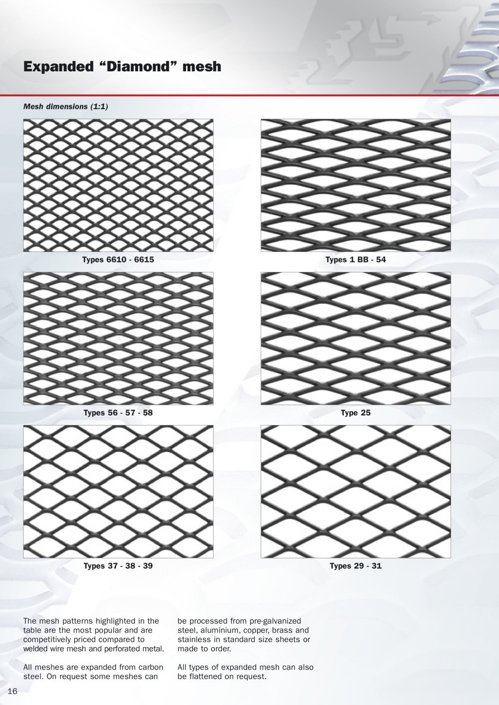 Diamond mesh - Fils - PDF Catalogues | Documentation | Brochures