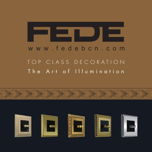 FEDE ENGLISH CATALOGUE