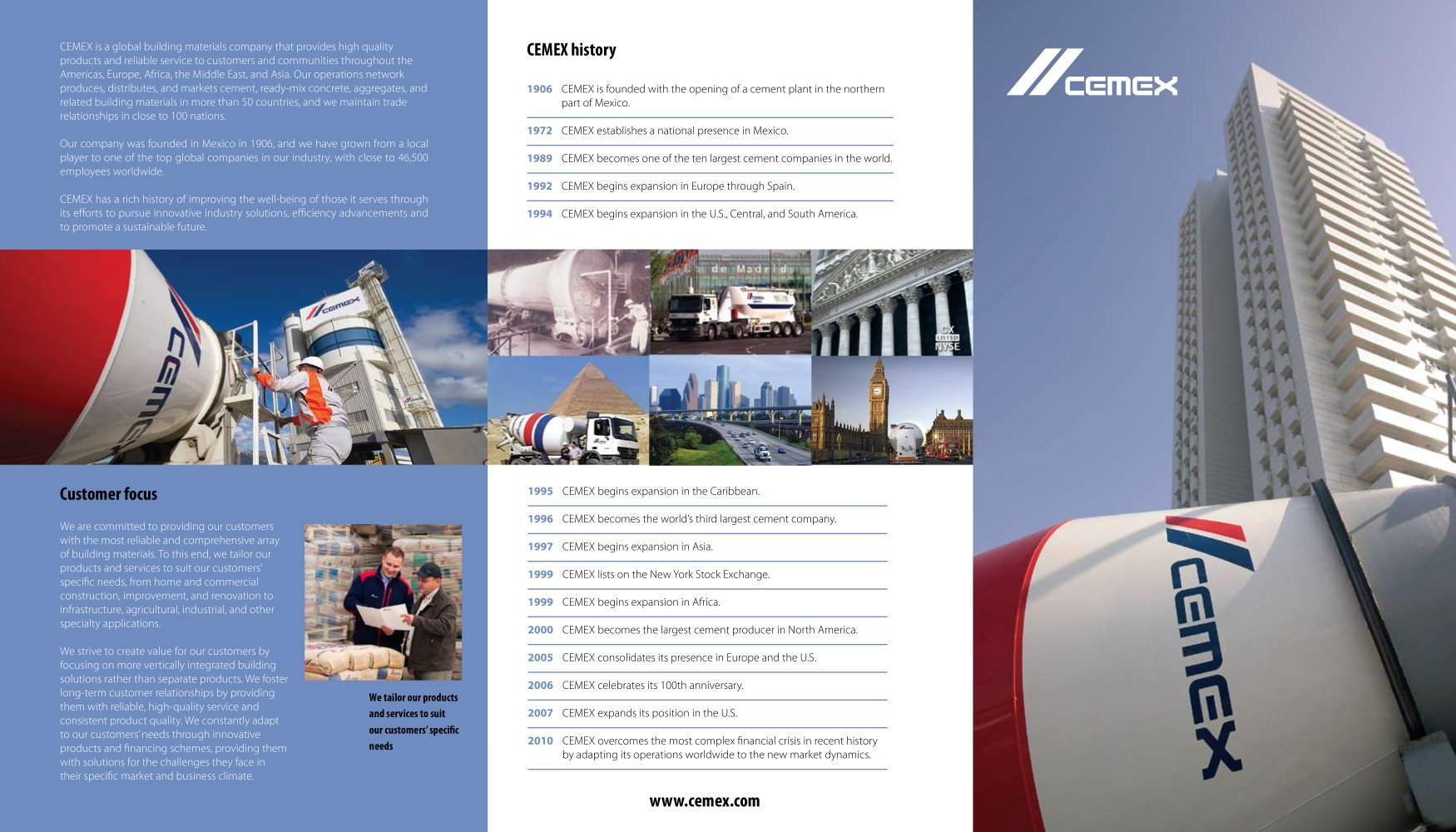 company brochure cemex pdf catalogues documentation brochures