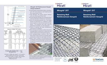 TenCate Miragrid® 2XT for Retaining Wall Reinforcement